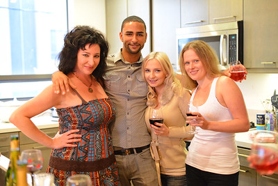 Group in kitchen