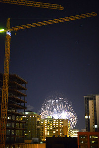 Cranes and fireworks!