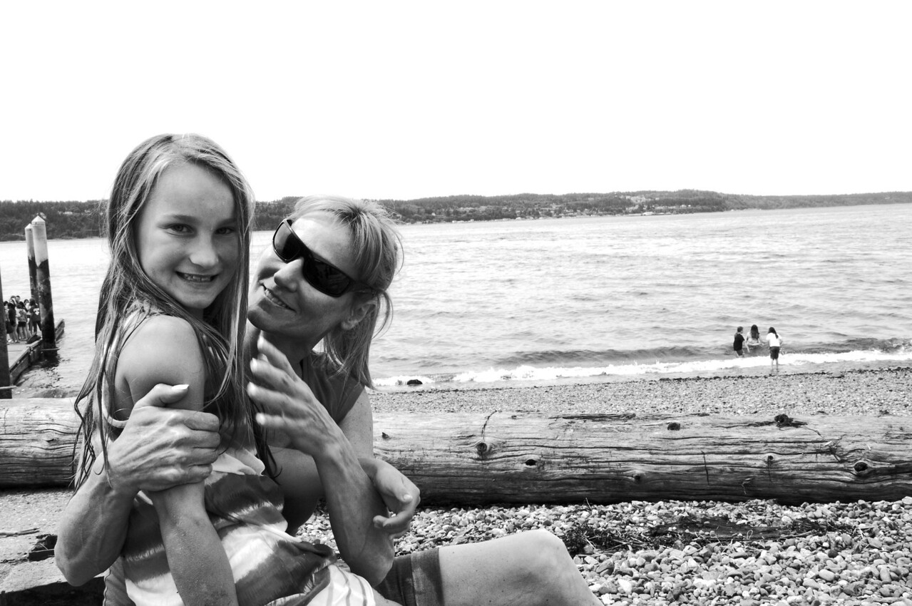 2012.06 - Last day of 2nd grade. Mukilteo Lighthouse beach. A short moment together.