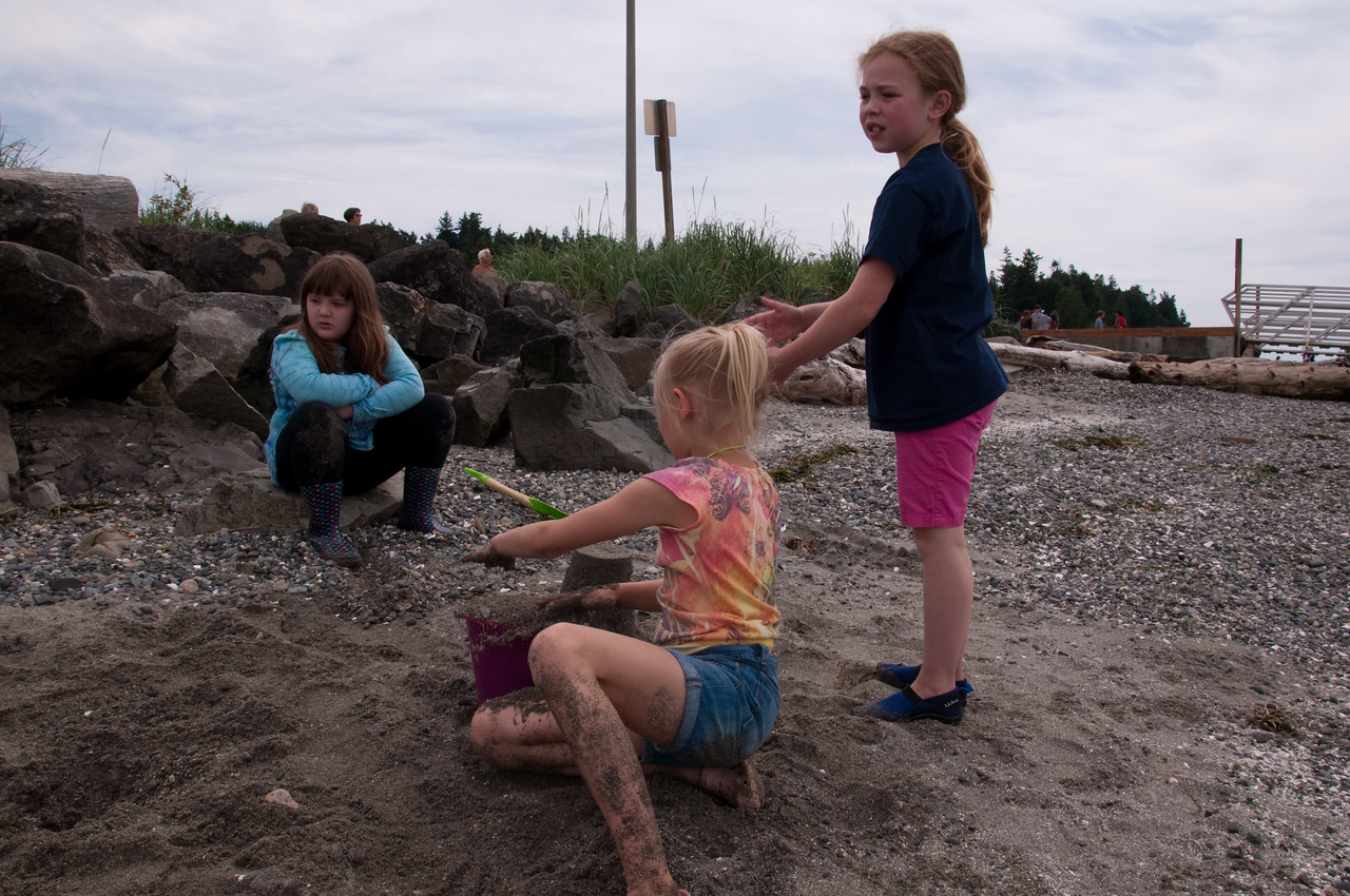 2012.06 - Last day of 2nd grade. Mukilteo Lighthouse beach. Sand!