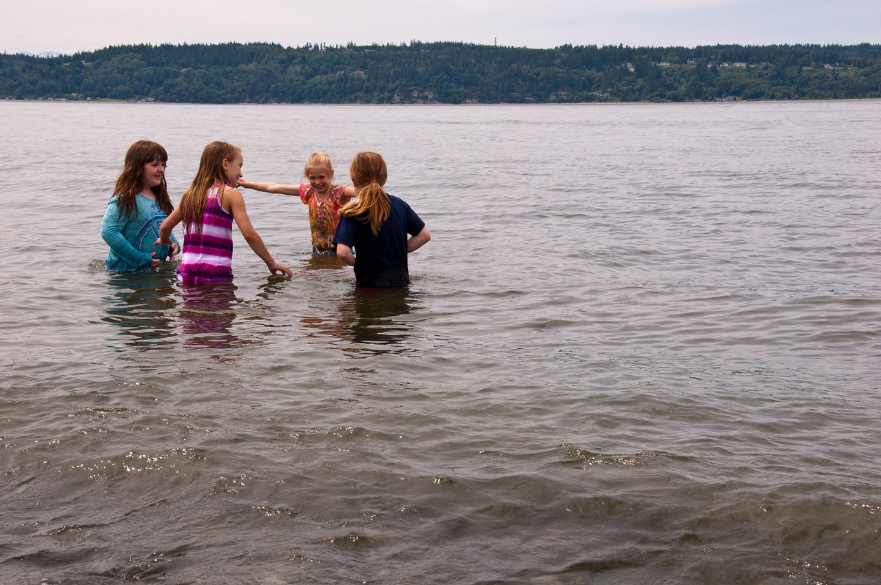 2012.06 - Last day of 2nd grade. Mukilteo Lighthouse beach. Searching for moon jellies.