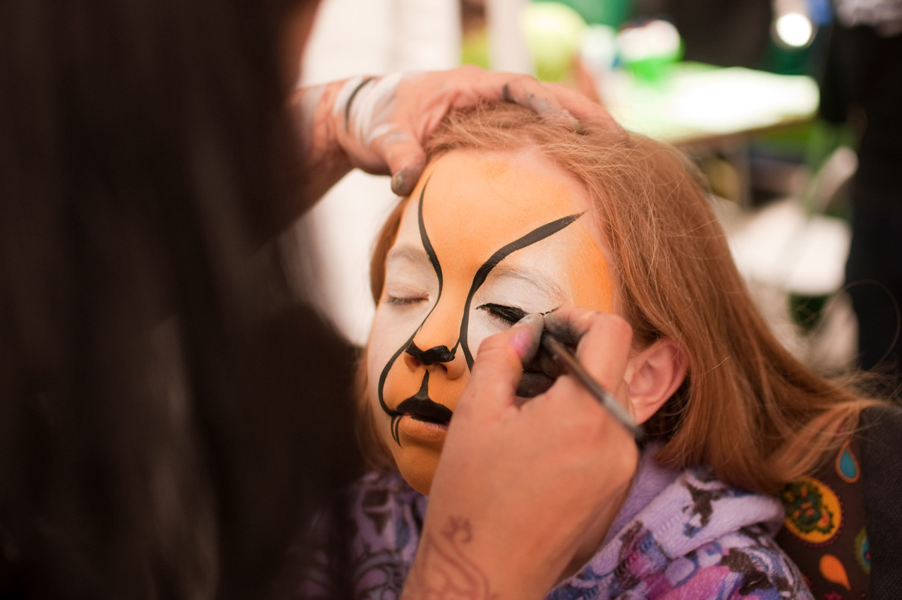 2012.06 - Father's Day at the Edmonds Art Festival. Face painting as a leopard.