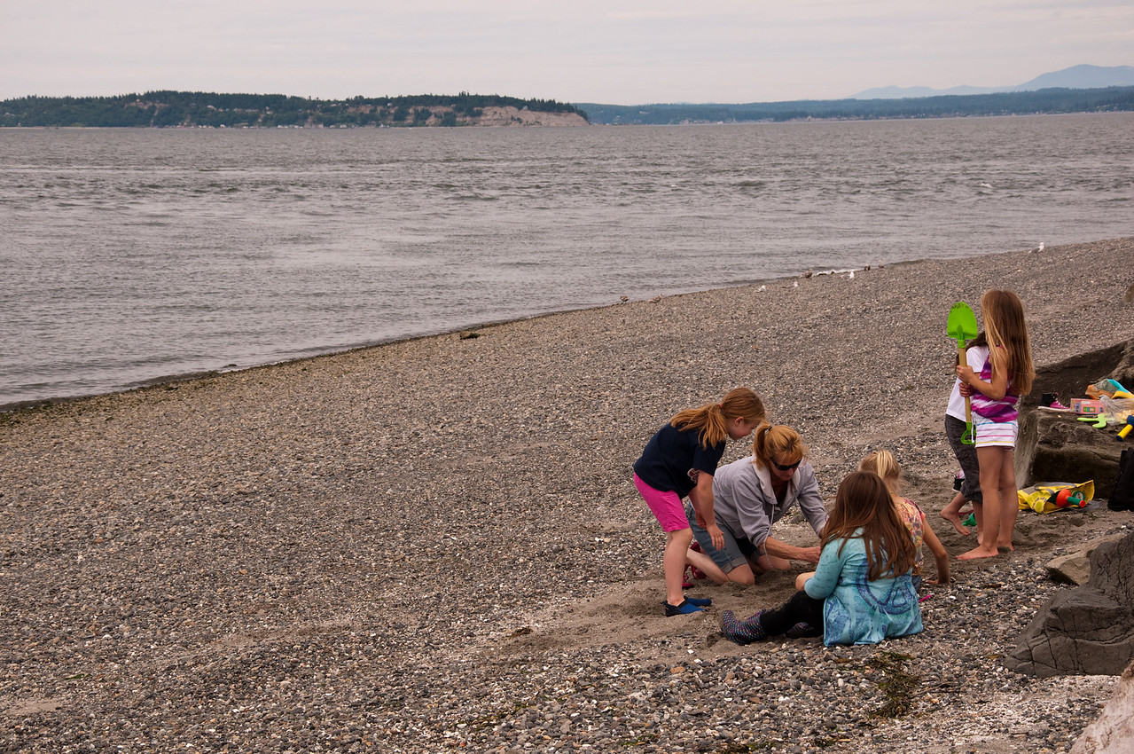 2012.06 - Last day of 2nd grade. Mukilteo Lighthouse beach. Started on sand castles....