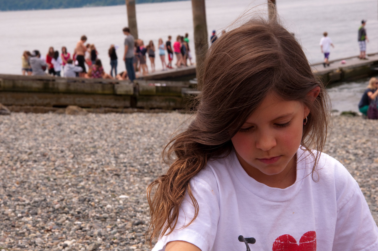 2012.06 - Last day of 2nd grade. Mukilteo Lighthouse beach. Playing in the sand.