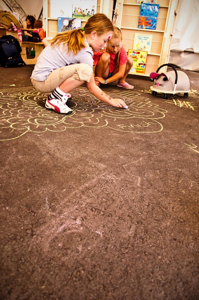 2012.09 - Bumbershoot: chalk maze