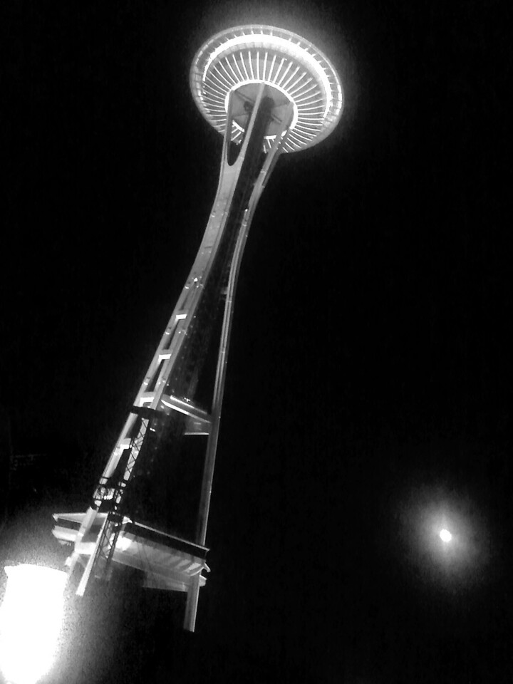 2012.09 - Bumbershoot: Space Needle & the moon