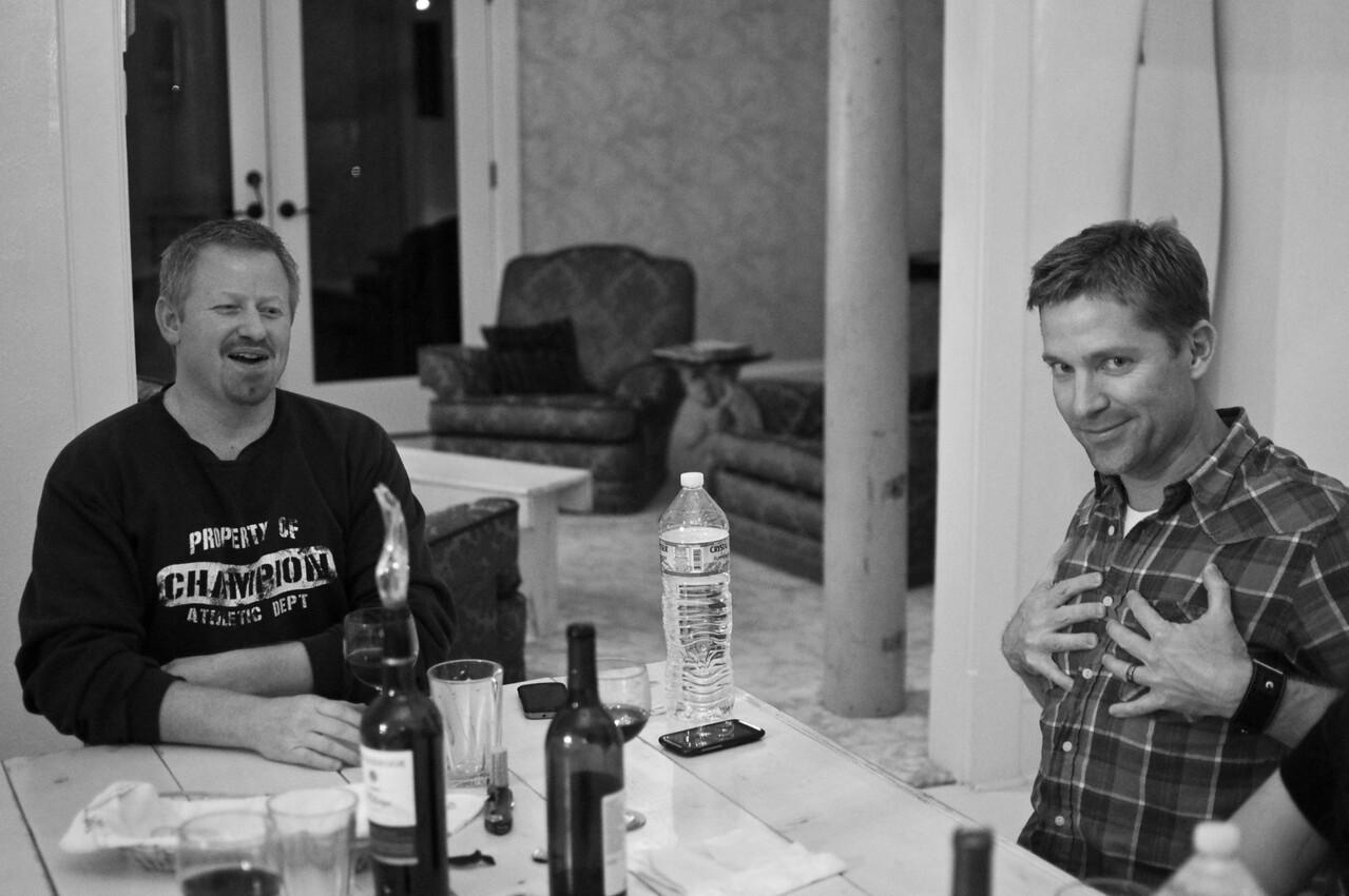 2012.10 - Chad's birthday: wine tasting in Prosser, WA. Matt's excited.