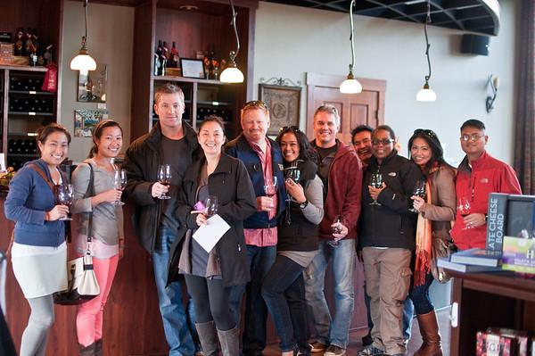 2012.10 - Chad's birthday: wine tasting in Prosser, WA. Gamache winery.