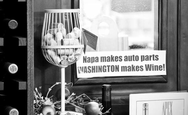 2012.10 - Chad's birthday: wine tasting in Prosser, WA. Cool bumper sticker at Apex Winery.