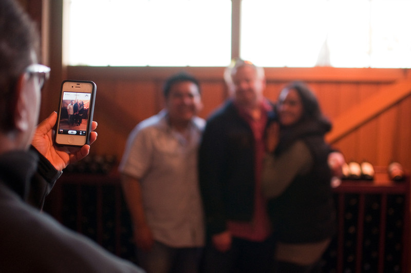 2012.10 - Chad's birthday: wine tasting in Prosser, WA. iPhone picture taking.