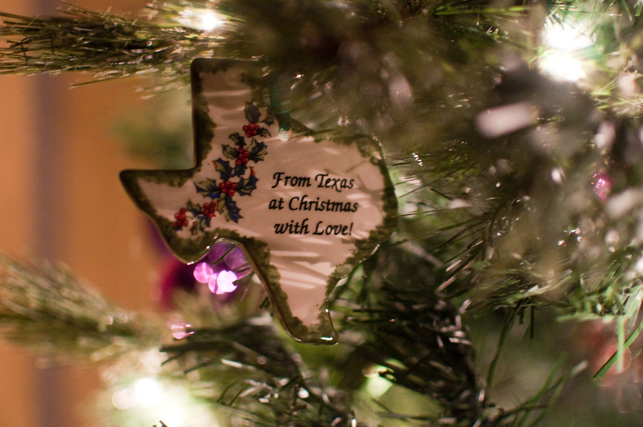 2012 Christmas - ornament from Mom & Ben (given many years ago)