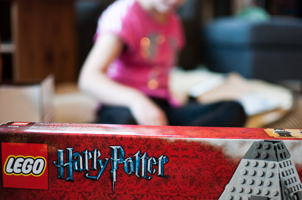 2012 Christmas - putting together Harry Potter legos