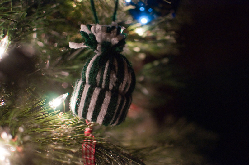 2012 Christmas - ornament made by Kimber at school