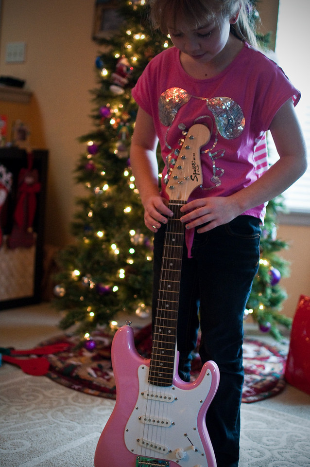2012 Christmas - electric guitar from uncle Chad