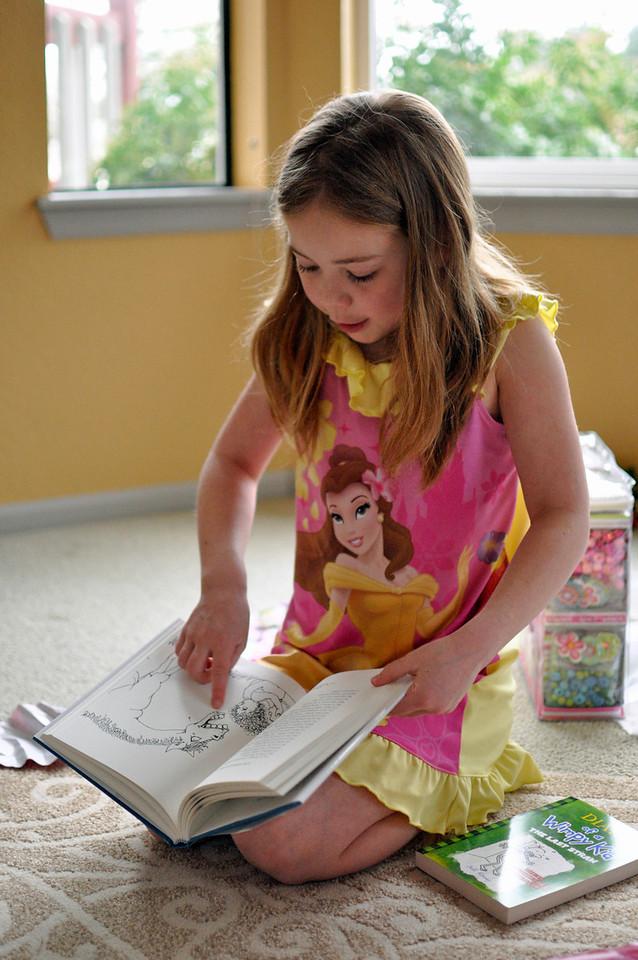 2012.01 - Kimber's 8th Birthday. Shel Silverstein book.