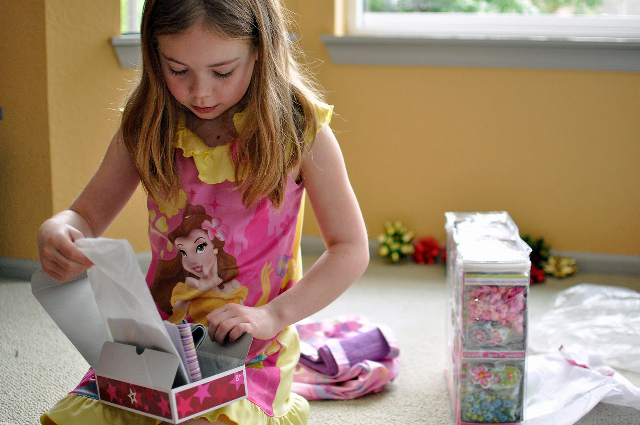 2012.01 - Kimber's 8th Birthday. American Girl Doll pajamas! Kimber got matching ones for herself as well.