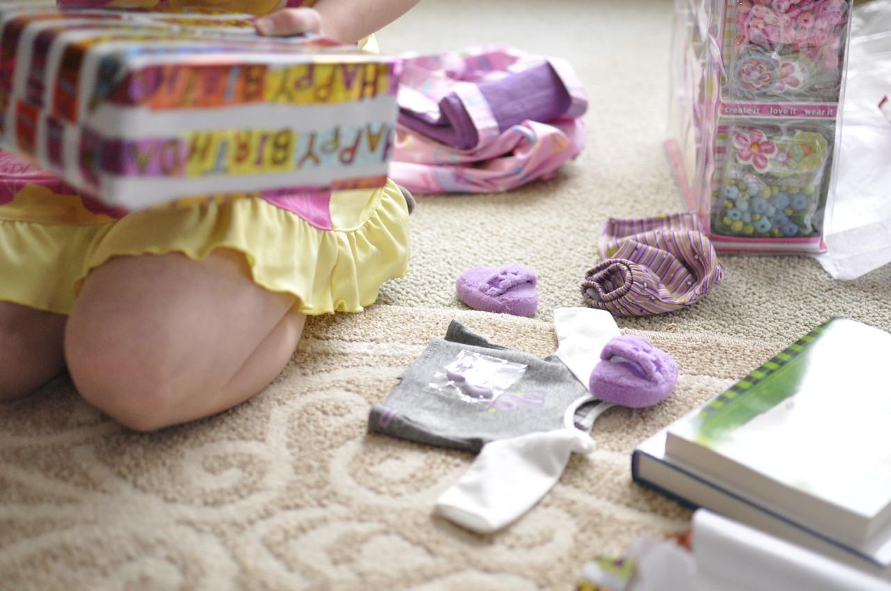 2012.01 - Kimber's 8th Birthday. American Girl Doll pajamas.