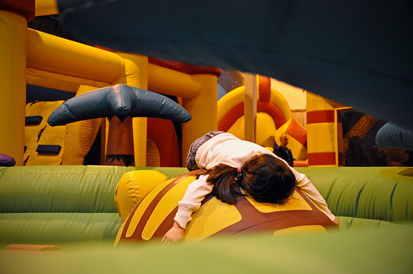 2012.01 - Kimber's 8th Birthday - Jump Planet. Satya's little sister all tuckered out!