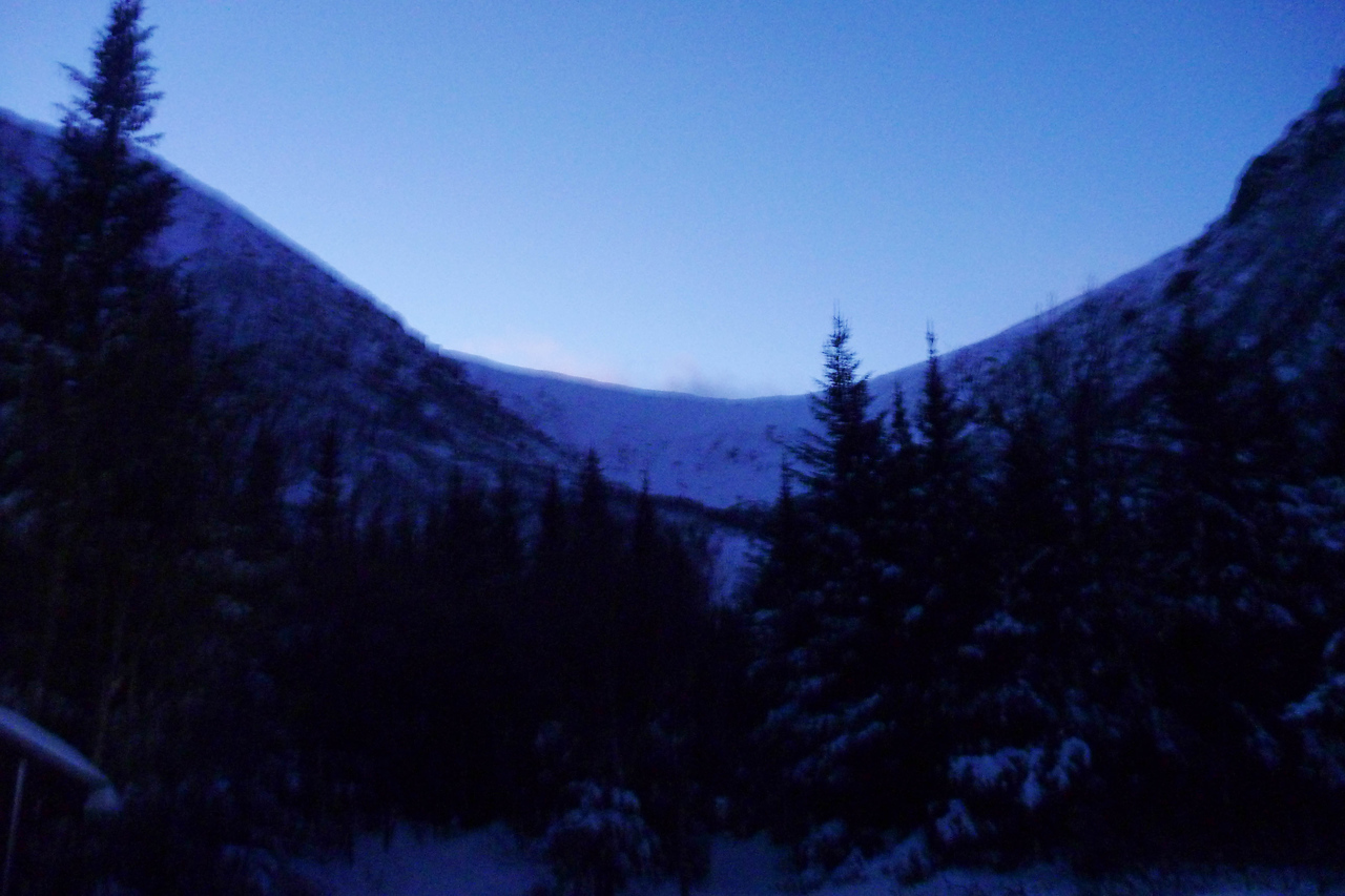 One of the many dusk trips I've been taking up the Tuckerman Ravine Trail