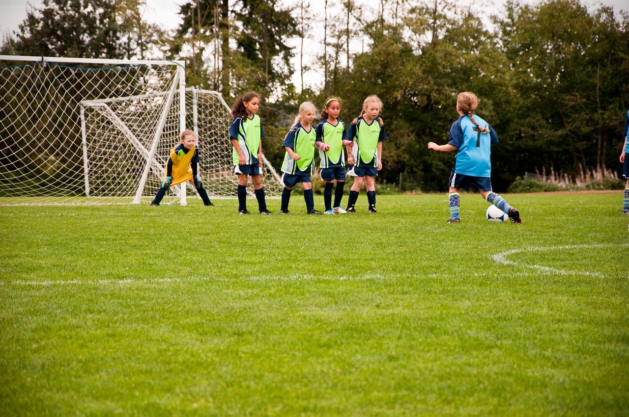 2012.09 - Soccer match vs. TB Stewart Blue Lightning - defend the goal!