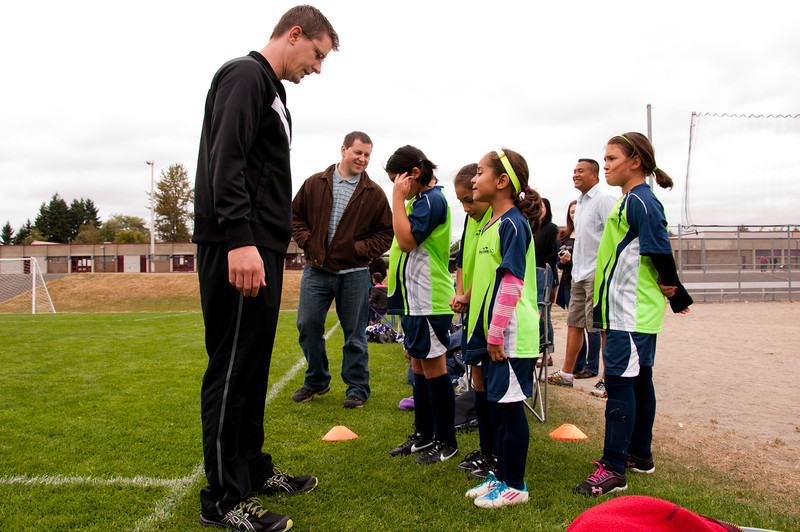 2012.09 - Soccer match vs. TB Stewart Blue Lightning - coach Lowell