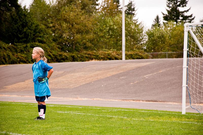 2012.09 - Soccer match vs. TB Stewart Blue Lightning - goalie