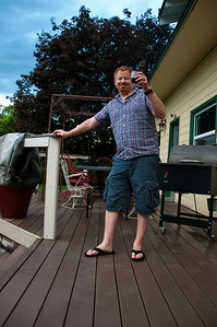 2012.06 - Ivory's birthday: wine tasting in Walla Walla. Enjoying sangria on the back deck.