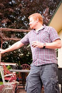 2012.06 - Ivory's birthday: wine tasting in Walla Walla. Taking in the backyard landscape.