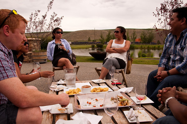2012.06 - Ivory's birthday: wine tasting in Walla Walla. Tasty tacos at Waterbrook winery.