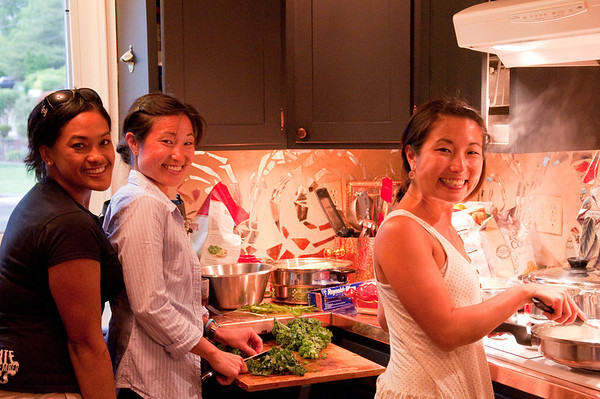 2012.06 - Ivory's birthday: wine tasting in Walla Walla. Ivory, Riki and Kari preparing dinner (which was awesome!).