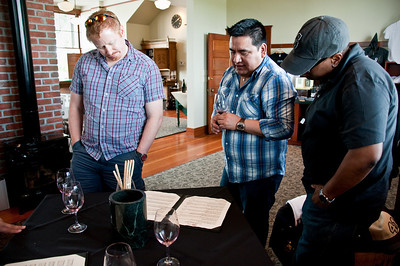 2012.06 - Ivory's birthday: wine tasting in Walla Walla. L'Ecole No. 41...which wine first?