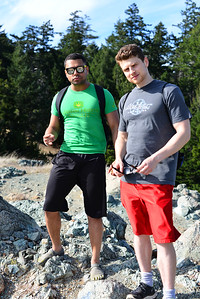 Max and Alex on rock