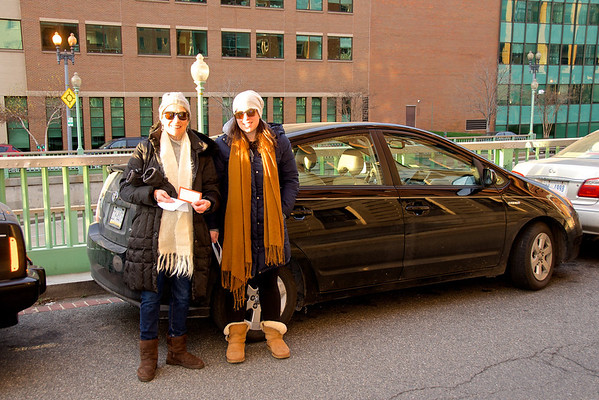 Denise and Jessie arrive at the Inauguration.  Yep, me too!