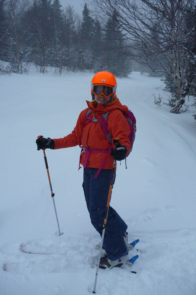 We actually timed it perfectly- there were a few inches of fresh powder!