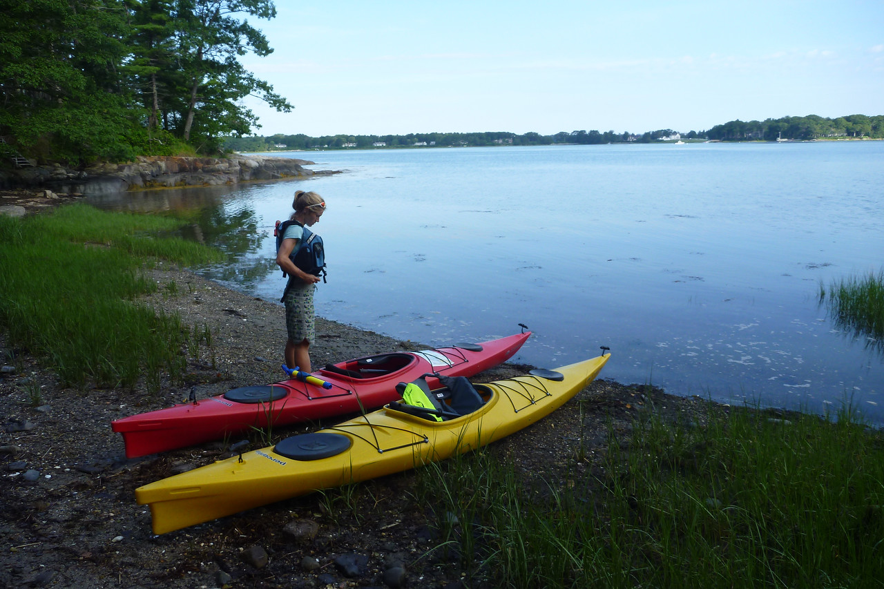 Kayaking out to Eagle Island.