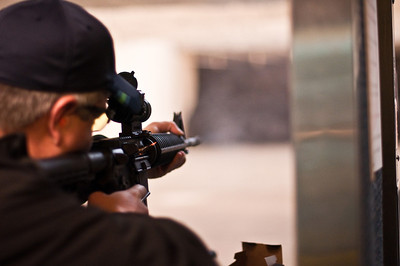 2013.01.03 - Shooting range with Mike Anderson. Fire from ejected casing with .22 AR.