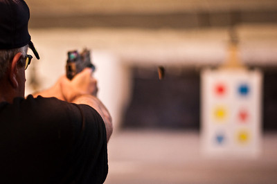 2013.01.03 - Shooting range with Mike Anderson. .45 pistol.