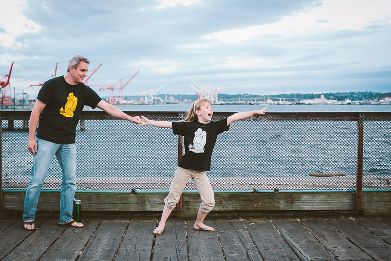 Dad & Daughter by Talitha
