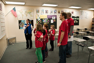 2103.03 - Destination Imagination Competition - Taking a pledge before their second challenge