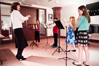2013.05.18 - flute ensemble. Mary, Mikayla, Taimen, Kimber and Xerna.