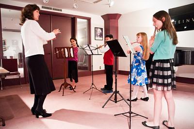 2013.05.18 - flute ensemble. Mary, Mikayla, Taimen, Kimber and Xerna.
