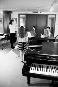 2013.05.18 - flute ensemble. Mary, Mikayla, Taimen, Kimber and Xerna