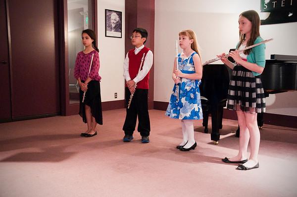 2013.05.18 - flute ensemble. Makayla, Taimen, Kimber and Xerna.
