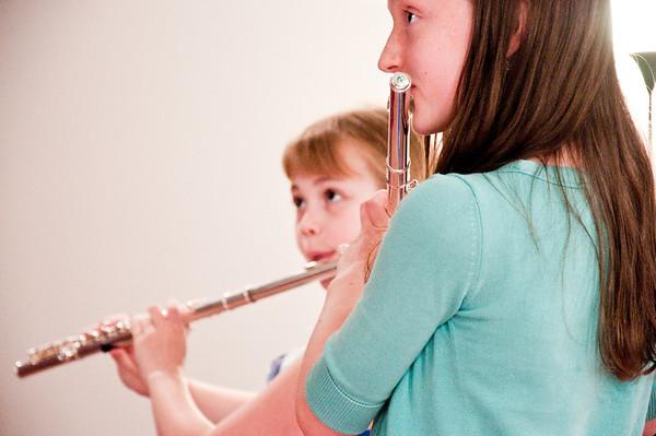 2013.05.18 - flute ensemble. Kimber and Xerna.