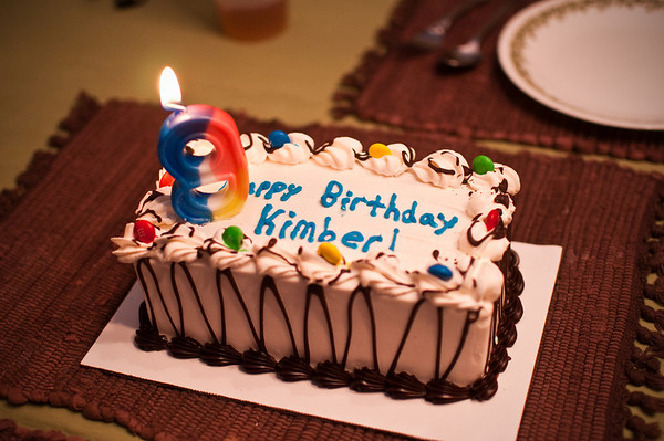 2013.01 - Kimber's Birthday - Dinner at Meemaw and Papa's