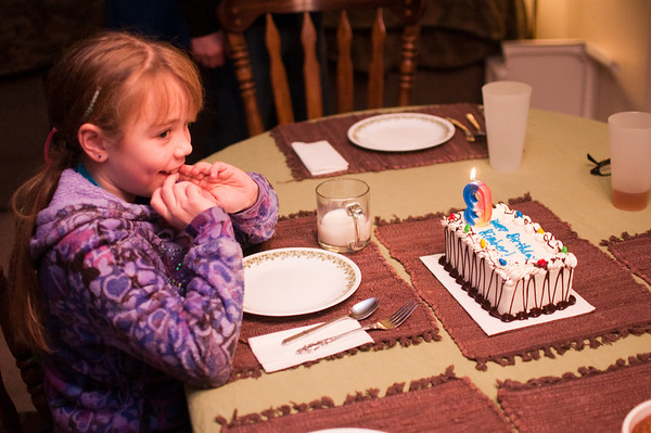 2013.01 - Kimber's Birthday - Dinner at Meemaw and Papa's