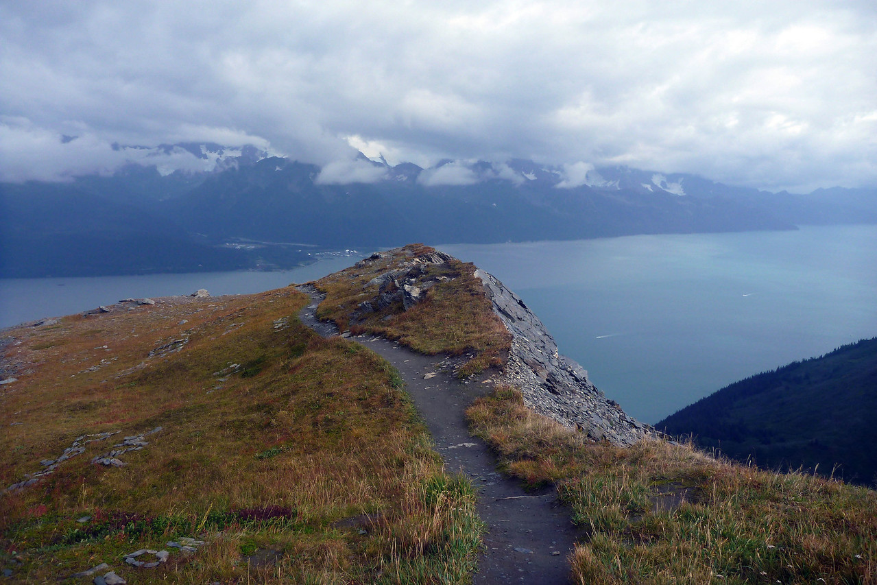 When we got back to Seward we decided to give Mt. Marathon another try. It was just as steep but definitely worth it- an amazing view down the bay.
