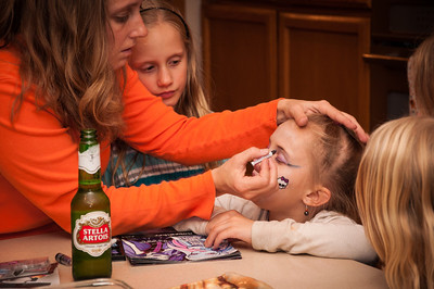 Halloween '13 - making up the Monster High girl