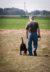 2013.09.27 - Illinois trip to see Grandma. Walking the dogs.