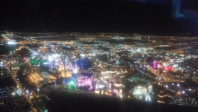 Flying over Vegas